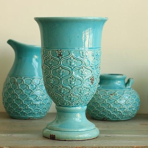 Vasi di ceramica di ghiaccio colori crack