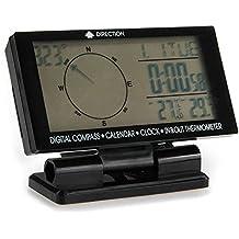 Shsyue® Compás Digital del Coche con el Calendario del Reloj Pantalla de temperatura interior / exterior
