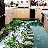 Carta da parati murale non tessuto, foto Carta da parati 3D per soggiorno Fegato di pesce Murales 3D Carta da parati per pavimenti Foto personalizzata Adesivo 3D per pavimento -wallpaper
