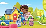 Tapetokids Fototapete - Disney Doc Mcstuffins - Vlies 368 x 254 cm (Breite x Höhe) - Wandbild Puppe Hippo Mädchen Baby Kinder