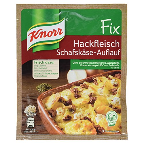 Knorr Fix Hackfleisch-Schafskäse-Auflauf 3 Portionen (21 x 43 g)