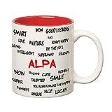 #9: Huppme Good Personality Alpa Inner Red Mug