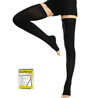 Beister Medical Thigh High Footless Compression Stockings