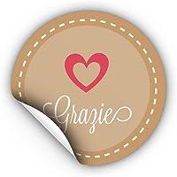 270 Etichette Adesive Grazie Bomboniere Ringraziamento Tag Chiudi Pacco