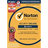 Symantec Norton Security Deluxe (5 Geräte) mit Norton Utilities 16.0 Bundle