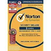 Symantec Norton Security Deluxe (5 Geräte) mit Norton Utilities 16.0 Bundle