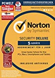 Norton Security Deluxe 2018 | 5 Geräte inkl. Norton Utilities | 1 Jahr | Windows/Mac/Android/iOS | Download -