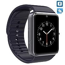 New GT08 Bluetooth Smart Watch für Samsung iphone HTC Android-Telefon mit Kamera SIM (schwarz)