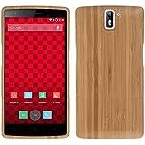 kwmobile custodia in bambù naturale per il OnePlus One in marrone chiaro
