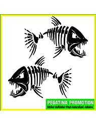 "2 x Pegatina para barcos ""pescado Piscis 1 "" 30 x20 cm vinilo adhesivo resistente al agua - Boat Ship Jetski Nombre Adhesivos"