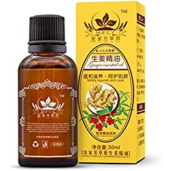 Planta esencial hombro Terapéutica Vegetal Aceite Natural y el cuello Aceite de masaje hidratante 30ml Aceite esencial de jengibre