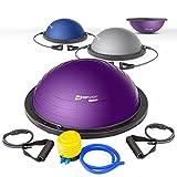 Hop-Sport Balance Ball HS-L058B Balance Trainer mit Zugbändern Ø63,5 cm (blau)
