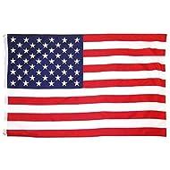 Acerca de Bandera de Estados Unidos 150×90cm para La Decoración del Lugar Parezca Más Juvenil de Banderina Americana - La bandera que imprime el aerosol con directo de digital arte, color brillante, claro y limpio. - Tela de la bandera, está texturag...