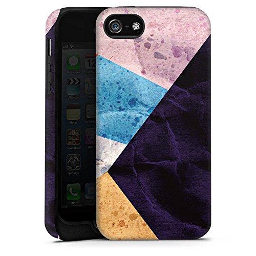 Apple iPhone X Silikon Hülle Case Schutzhülle Farben Struktur Muster Tough Case matt