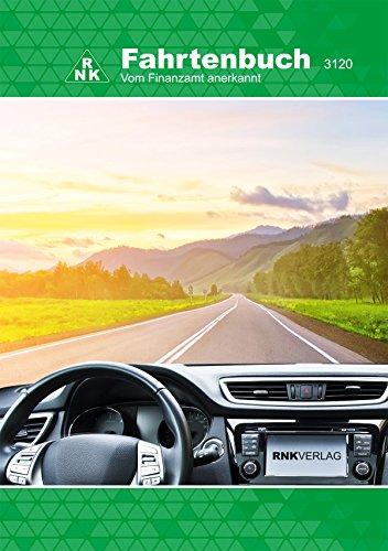 RNK - 3120 Fahrtenbuch PKW, steuerlicher Kilometernachweis, DIN A5, 32 Blatt