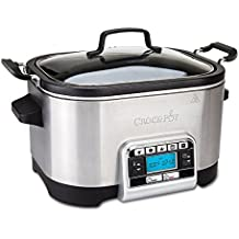 CSC024 5.6L Digital Slow & Multi Cooker with 5 Functions in Stainless Steel by Crock Pot