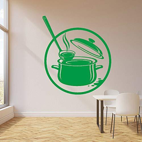 Küchentopf Kochen Küche Suppe Aufkleber Wandvinylwandtattoo Dekoration