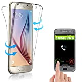 Coque Gel TPU Silicone Intégrale Transparent pour Samsung Galaxy S6 - Housse Etui Protection Full Silicone Ultra Fine Deux Parties Avant + Arrière -E.F.Connection