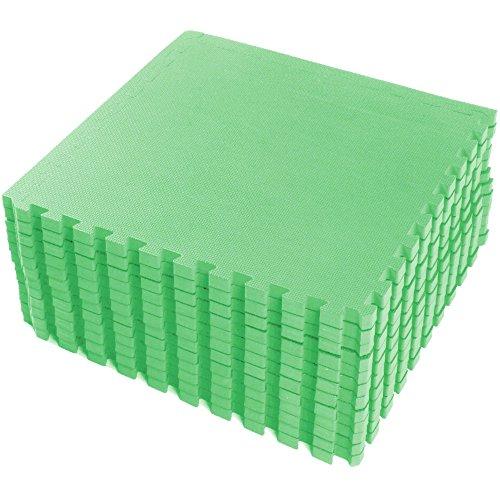 FB FunkyBuys® verde 48mq. ft interlocking reversibile per pavimento, adatto per ginnastica Outdoor/indoor protective Flooring (Reversibile Mat)