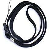 16 Inch Neck Strap/Cord Lanyard for Mp3 MP4 Cell Phone Camera USB Flash Drive ID Card--Black