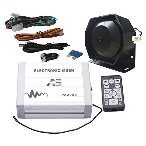 Als 100W Polizei Sirene Bundle pa2000e-spk00213er Pack 20Töne 12V mit Sirene Box Lautsprecher Wireless Fernbedienung Mikrofon für Verschiedene vehilces Federal Signal Alarm
