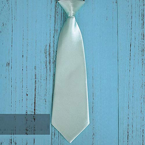Mode Schule Jungen Kinder Kinder Baby Hochzeit Einfarbig Elastische Krawatte Junge Krawatte Baby Hochzeit Krawatte Krawatte Fleck - Mintgrün
