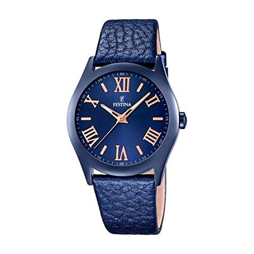 Festina Boyfriend Collection Reloj de pulsera analógico de cuarzo piel F16649–5