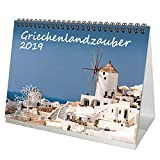 Grèce magique-DIN A5-Premium Calendrier de bureau/calendrier 2019-Grèce · Athen Kreta-Mykonos-Vacances-Mer-Coffret cadeau avec 1carte de vœux et 1carte de Noël-Édition âme magique