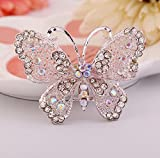 Ruikey Fashion Brooch Butterfly Crystal Rhinestone Brooch Pin for Women