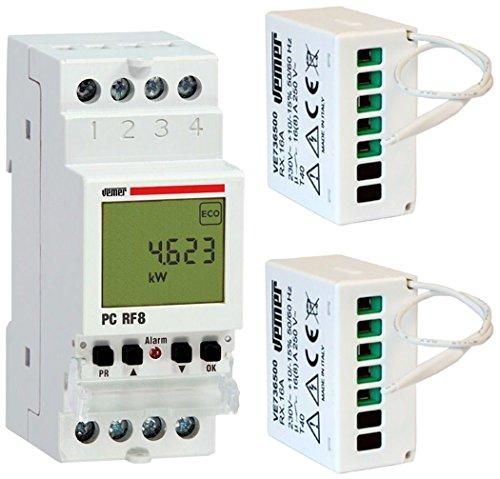 vemer ve737300Controlador Cargas PC rf8con 2actuadores RX.16A a Radio, Color Blanco