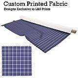 Blau Tartan Design Digital Print Strick Jersey bedruckter