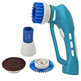 Elektrische Reinigungsbürste,Handheld Power Scrubber mit 4 Bürstenköpfe IPX7 Wasserdicht vielfaltige Funktionen Reinigung für Boden/ Küche/ Bad Ecke (C)