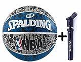 #6: Spalding Basketball Graffiti Grey/Blue Combo ( Spalding NBA Graffiti Basketball, Grey/Blue + Nivia Air Ball Pump)