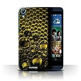 Custodia/Cover Rigide/Prottetiva STUFF4 stampata con il disegno Bolle/Goccioline per HTC Desire 626G+ - Arancione
