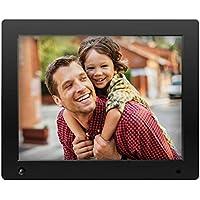 NIX Advance Digitaler Bilderrahmen 12 Zoll X12D. HD Display. Elektronischer Fotorahmen mit Uhr/Kalender-Funktion. Auto On/Off (Hu-Motion Sensor). Inkl. 8GB USB-Stick und Fernbedienung