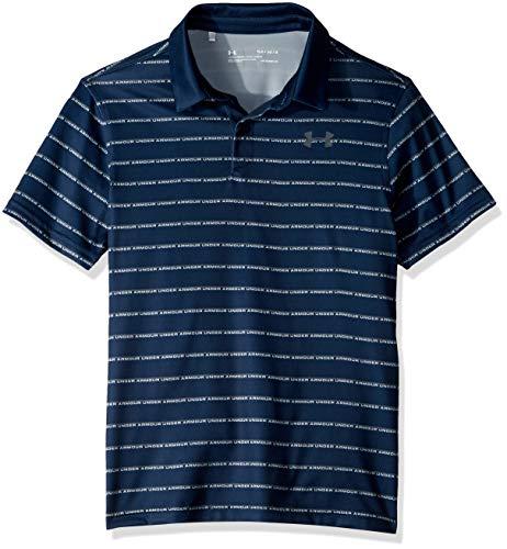 Under Armour Jungen Tour Tips Stripe Polo Academy (408)/Pitch Gray, Youth X-Large - Under Armour Jungen Streifen