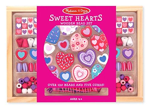 Preisvergleich Produktbild Melissa & Doug - 14175 - Holzperlen-Set • Süsse Herzen