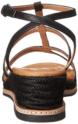 Corso Como Codi Femmes Cuir Sandales Compensés Black
