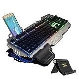 Normia Rita 104 klicken Mechanische Spiel Tastatur, Hintergrundbeleuchtung RGB LED Gaming-Tastatur, Beleuchtete...