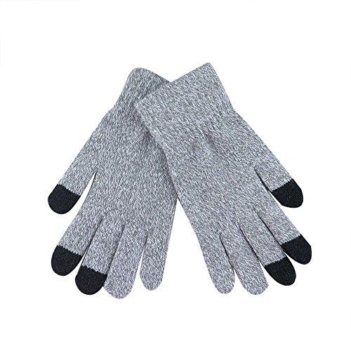 Femme Gants Multifonction Gloves Touch Screen Gants Sport à éCran Tactile, Mitaine Laine Chuad Hiver Pas Cher (Beige)