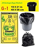 #1: G-1 Medium:19 Inch X 21 Inch | 4 Packs Of 30 Pcs - 120 Pcs | Disposable Garbage Trash Waste Dustbin Covers & Bags - Black