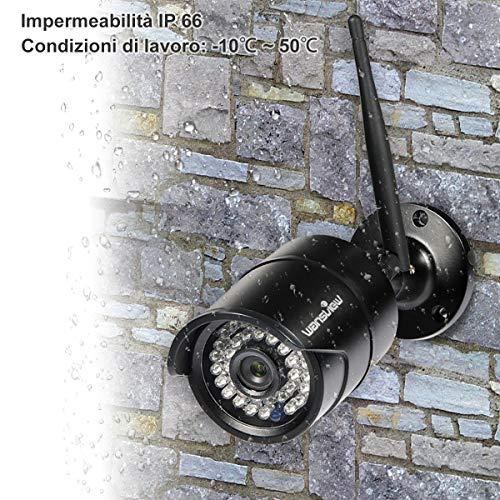 Videocamera di Sorveglianza Wifi Esterno, Wansview