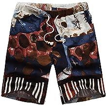 Pantalones Cortos Hawaiana para Hombres Naturazy BañAdores De NatacióN 3D Printed Tallas Grandes Deporte Secado RáPido