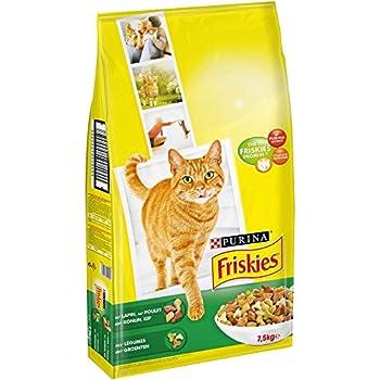 Friskies Chat Croquettes pour chat adulte Lapin, Poulet & Légumes ajoutés - 7,5 kg