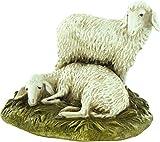 Gruppo 2 pecore su base per presepe - cm 12