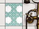 Fliesentattoo Dekosticker | Fliesen-Aufkleber Folie Sticker selbstklebend Küche renovieren Bad Küchen Ideen | 15x20 cm Design Motiv Ornament Light 1 - 1 Stück