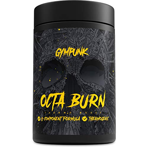 Fat Burner Diät Pille (GYMPUNK Octaburn | 120 Kapseln Fat-burner - extrem wirksam | bequem Abnehmen mit Thermo Boost | Fett-Verbrenner für Stoffwechsel, Fitness und Diät | Kein Tabletten | Appetit-zügler mit 8 Komponenten)