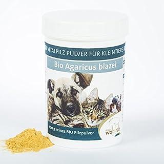 Agaricus blazei Murill ABM Bio Pulver Mandelpilz für Hunde, Katzen und Kleintiere 100g