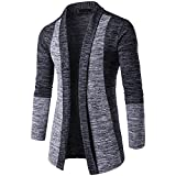 Sweat Hommes Kangrunmy Chic Casual Pull Hiver Cardigan Tricot Veste Pull Manteau Men Sweater Jacket VêTements Trenchcoat Clothes Tops Blouson Sweat Coat (A, XL)