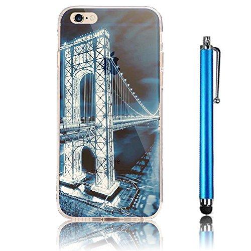 iPhone 7 Case (4.7) , iPhone 7 Custodia,Ultra Slim Thin Crystal TPU Paesaggio Morbido Bumper Case + Stylus Screen Touch Pen –cima model 2